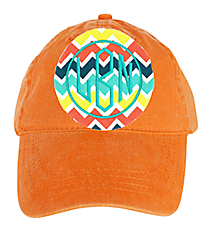 Washed Pumpkin Orange Baseball Cap #18-202-056