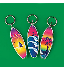 12 Acrylic Surfboard Key Chains #19/261