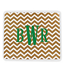 Gold Chevron Mouse Pad #193