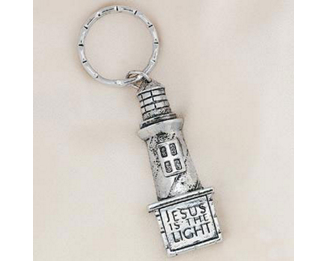 One 'Jesus is the Light' Lighthouse Keychain #19/178