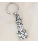 "One Dozen ""Jesus is the Light"" Lighthouse Keychains #19/178"
