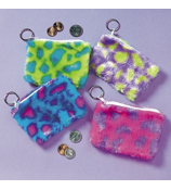 One Plush Spotted Coin Purse Key Chain #19/222-ASST