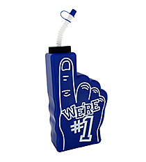 "1 Blue ""We're #1"" Finger-Shaped Bottle #3/6310"