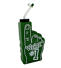 "1 Green ""We're #1"" Finger-Shaped Bottle #3/6313"