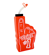 "1 Orange ""We're #1"" Finger-Shaped Bottle #3/6314"