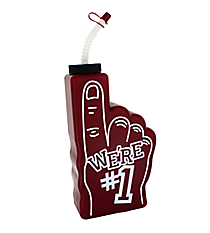 "6 Burgundy ""We're #1"" Finger-Shaped Bottles #3/6315"