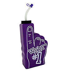 "1 Purple ""We're #1"" Finger-Shaped Bottle #3/6316"