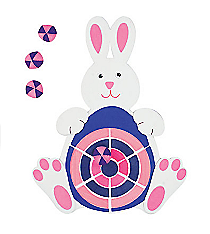 1 Foam Easter Bunny Dart Board #20/157