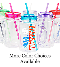 Baseball Clear 20 oz. Mason Jar with Lid & Straw #WACD002BD-CL *Choose Your Colors