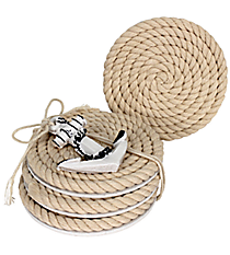 Set of 4 Nautical Rope Coasters #20122-NAVY