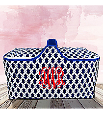 Nautical Blue Ropes Insulated Basket with Lid #20292-ROPES