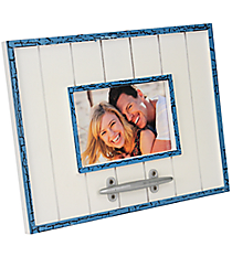 "Blue and White Wood and Cleat 4"" x 6"" Photo Frame #20306-BLUE"