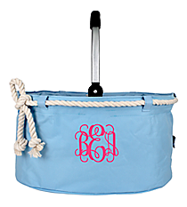 Light Blue Nautical Rope Collapsible Market Basket #20160-LT.BLUE