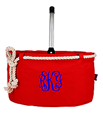 Red Nautical Rope Collapsible Market Basket #20160-RED