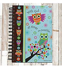 Owls Matthew 19:26 Spiral Bound Journal #20672