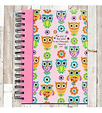 Owls Nehemiah 8:10 Spiral Bound Journal #20674