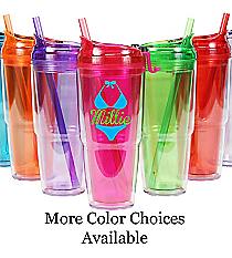 Bikini with Name 22 oz. Double Wall Travel Tumbler with Straw #WA334010-2 *Choose Your Colors