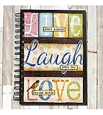 Live Laugh Love Spiral Bound Journal #22196