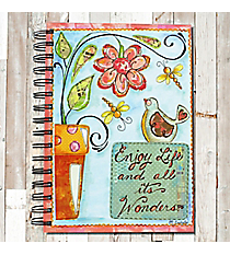Enjoy Life and all its Wonders Spiral Bound Journal #22198