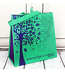 Proverbs 11:30 Mint and Purple Tree of Life Eco Tote #22729