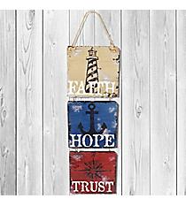 23 x 7.5 'Faith Hope Trust' Nautical Wall Decor #22988