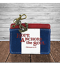 Hebrews 6:19 'Hope Anchors the Soul' Striped ID Card Holder #22998
