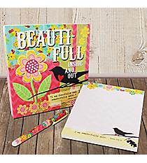 Psalm 139:14 'Beauti-Full Inside And Out' Memo Pad & Pen Gift Set #23105