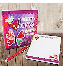 Proverbs 17:17 Springtime Memo Pad & Pen Gift Set #23107