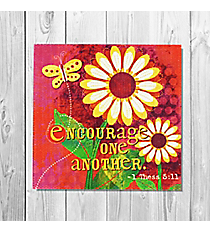 1 Thessalonians 5:11 'Encourage One Another' Canvas Magnet #23124