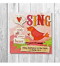 Psalm 33:1 'Sing With All Your Heart' Canvas Magnet #23125