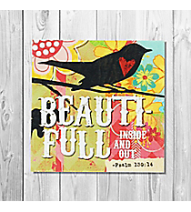 Psalm 139:14 'Beauti-Full Inside And Out' Canvas Magnet #23126