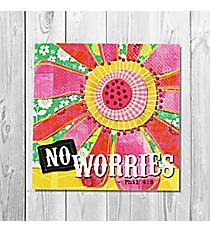 Philippians 4:6 'No Worries' Canvas Magnet #23127