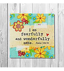 Psalm 139:14 'Fearfully and Wonderfully Made' Canvas Magnet #23128