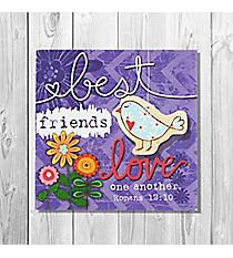 Romans 12:10 'Best Friends' Canvas Magnet #23131