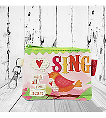 Psalm 40:2-3 'Sing With All Your Heart' Coin Purse #23133