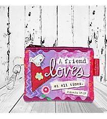 Proverbs 17:17 'Friend Loves' Coin Purse #23134