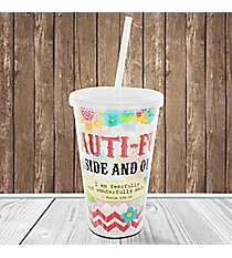 Psalm 139:14 'Beauti-Full Inside And Out' 16 oz Double Wall Tumbler with Straw #23160