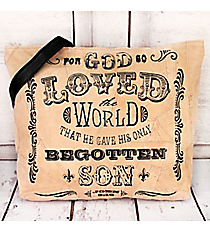 John 3:16 Recycled Leather Shoulder Tote #23218