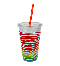 Jungle Beat 16 oz. Double Wall Tumbler with Straw #23220