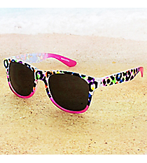 Tween's Neon Animal Print Sunglasses #23516