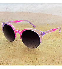 Tween's Pink and Purple Gradient Tone Rimless Sunglasses #23521