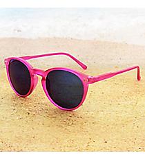 Tween's Retro Gaze Magenta Round Sunglasses #23522