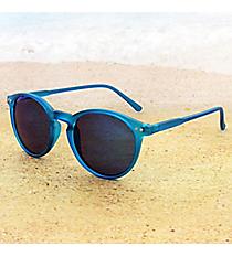 Tween's Retro Gaze Deep Blue Round Sunglasses #23523