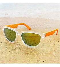 Tween's Electric Orange and Frosted Clear Sunglasses #23525