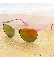 Tween's Candy Eyes Bubble Gum Pink Rimless Sunglasses #23526