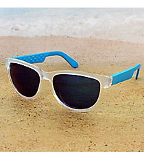 Tween's Electric Blue and Frosted Clear Sunglasses #23529