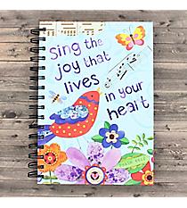 Psalm 66:2 Musical Bird Spiral Bound Journal #23573