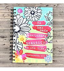 Ecclesiastes 3:11 Floral Sketch Spiral Bound Journal #23576