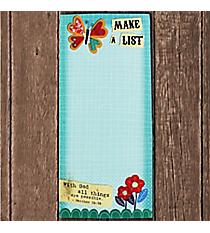 Matthew 19:26 'Make A List' Magnetic Notepad #23613