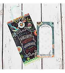 Spring Garden 'Faith Hope Love' List Pad & Memo Board Set #23680